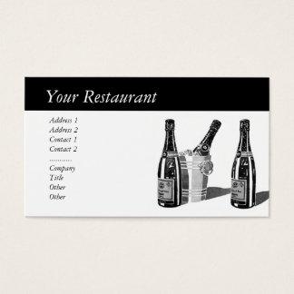 Champagne och is ösregnar visitkort