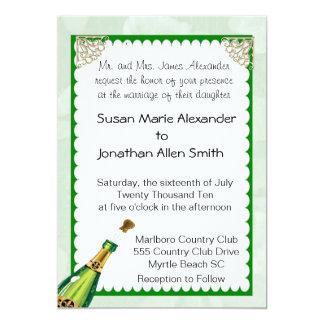 Champagnebröllopinbjudan Inbjudningskort