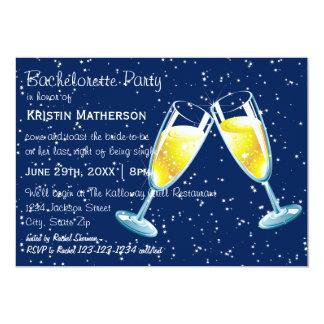 Champagneexponeringsglasnatt - Bachelorette party 12,7 X 17,8 Cm Inbjudningskort
