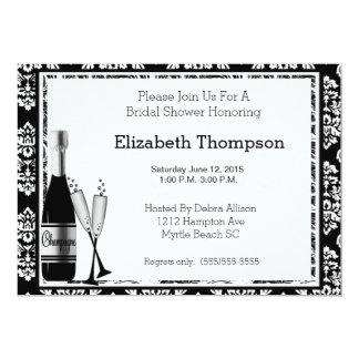 Champagneinbjudningskort för möhippan 12,7 x 17,8 cm inbjudningskort