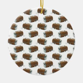 Champagnekorkpolkaen pricker mönsterprydnaden julgransprydnad keramik