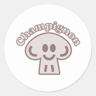 Champinjonmästare Runt Klistermärke