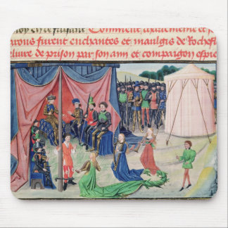 Charlemagne och hans barons som tjusas musmatta