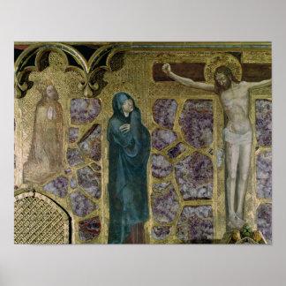 Charles dropp på bönen, oskulden och Kristus av Poster