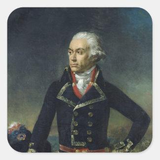 Charles-Francois du Perier Dumouriez Fyrkantigt Klistermärke