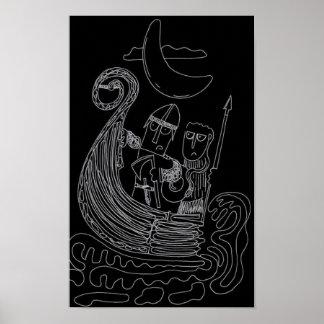 Charles och Rufus som Vikings Poster