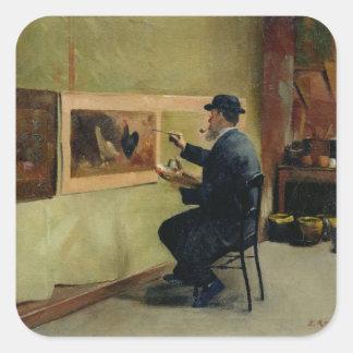 Charles Philippe Gevens, svärfar av konstnären Fyrkantigt Klistermärke
