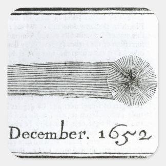 Charless komet, December 1652 Fyrkantigt Klistermärke