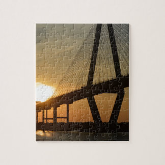 Charleston Ravenel överbryggar solnedgång Pussel