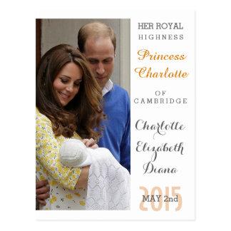 Charlotte Elizabeth Diana - britt ska Kate Vykort