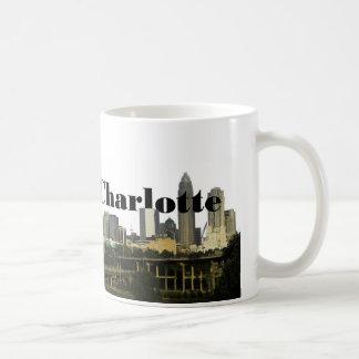 Charlotte NC horisont med Charlotte i himmlen Kaffemugg