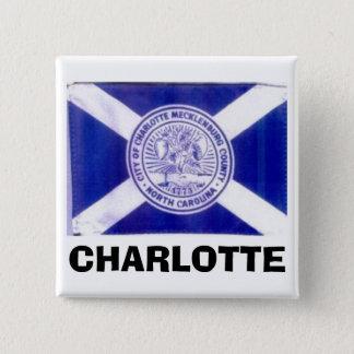Charlotte North Carolina flagga Standard Kanpp Fyrkantig 5.1 Cm