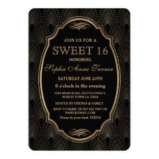 Charma underbar Gatsby för den ryta 20-tal art 12,7 X 17,8 Cm Inbjudningskort