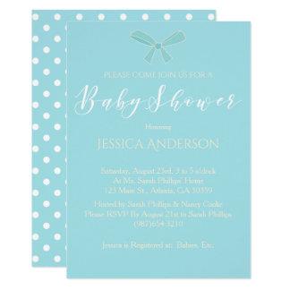 Charmig blåttpojkebaby shower 12,7 x 17,8 cm inbjudningskort