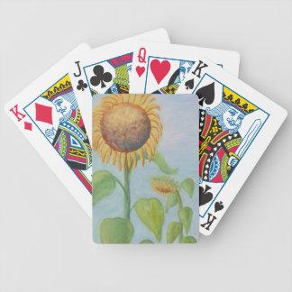 CHARMIGA SOLROSOR som leker kort Spelkort