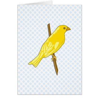 Charnille kanariefågel hälsningskort