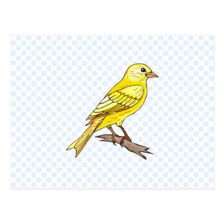 Charry kanariefågel vykort
