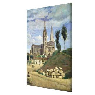 Chartres domkyrka, 1830 canvastryck