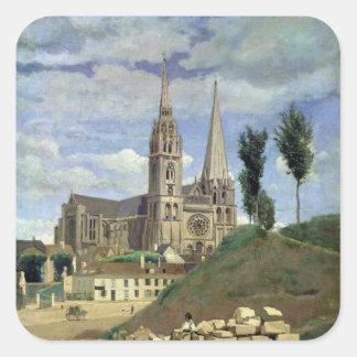 Chartres domkyrka, 1830 fyrkantigt klistermärke