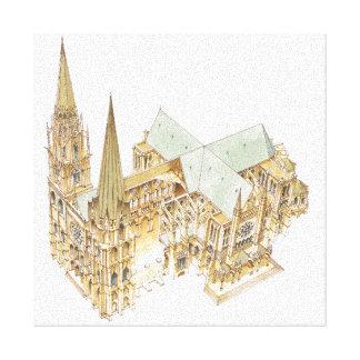 Chartres domkyrka. Frankriken Canvastryck