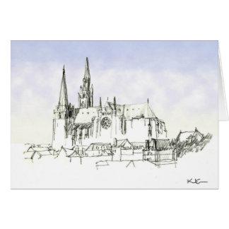 Chartres domkyrka hälsningskort