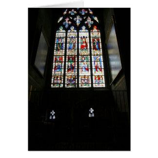 Chartres fönster hälsningskort