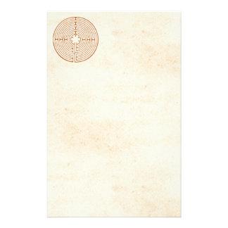 Chartres labyrint brevpapper