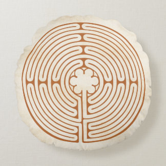 Chartres labyrint rund kudde
