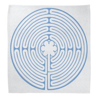 Chartres labyrintblått bandana
