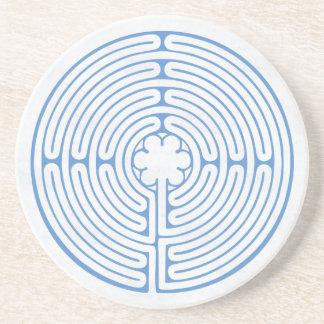 Chartres labyrintblått underlägg sandsten
