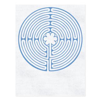 Chartres labyrintblått vykort