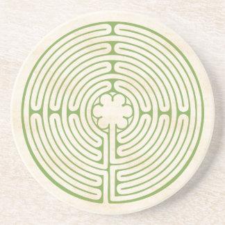 Chartres labyrintgrönt underlägg sandsten