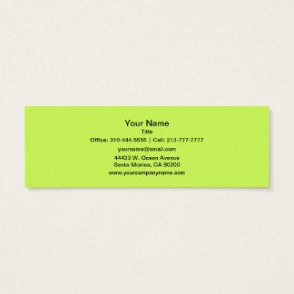 Chartreuse fast färg litet visitkort