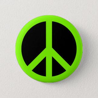 Chartreuse fredsymbol standard knapp rund 5.7 cm