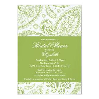 Chartreuse grönt för Paisley inbjudningskort för