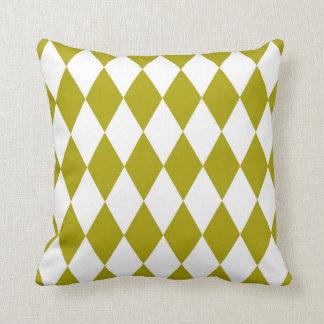 Chartreuse mönster för klassikerHarlequindiamant Kudde