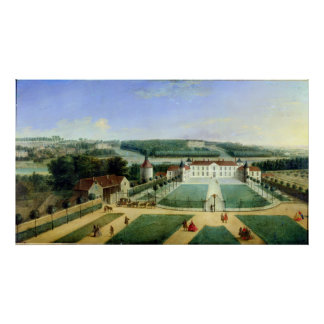 Chateau av Charles Guillaume Le Normant Poster
