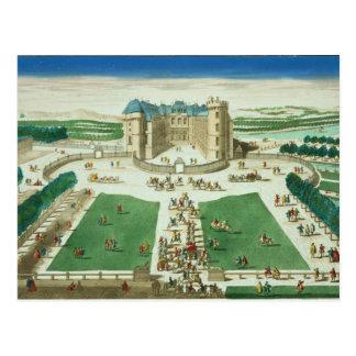 Chateauen Rambouillet som inristas av Antoine Vykort