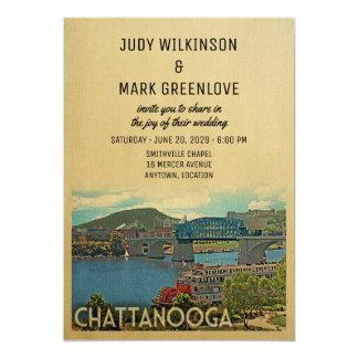 Chattanooga bröllopinbjudan Tennessee 12,7 X 17,8 Cm Inbjudningskort