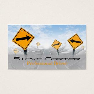 Chaufför/transport/automatiskt vägmärke visitkort