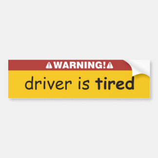 chauffören tröttas bildekal