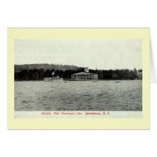 Chautauqua sjö, Jamestown NY vintage 1909 Hälsningskort