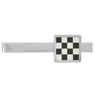 Checkerboard2 på den silver pläterade silverpläterad slipsnål