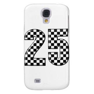 checkers för auto tävla numrerar 25 galaxy s4 fodral
