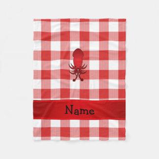 Checkers för picknick för känd tioarmad bläckfisk fleecefilt