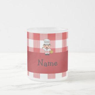 Checkers för vit för känd italiensk kock för kaffe muggar
