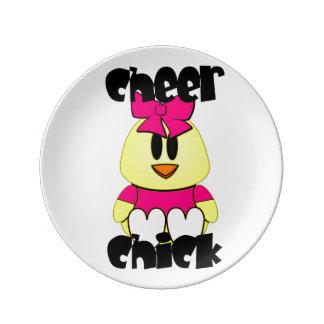 Cheerleading chick porslinstallrik