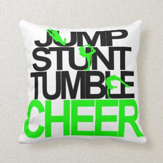 Cheerleading kudde hoppet, hämmar, dråsar, hurrar