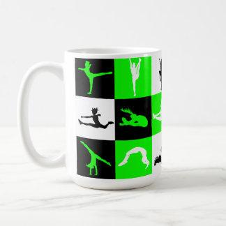 Cheerleading kvartermugg i grönt kaffemugg