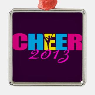 Cheerleading lilor för personligjubel julgransprydnad metall